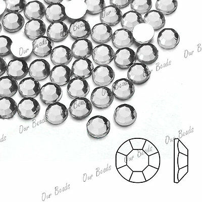 About 1000 Round Crystal Flatback Acrylic Rhinestones SS4,SS6,SS8,SS12 Wholesale