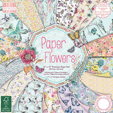 First Edition 12x12 Paper - PAPER FLOWERS - Cardmaking Scrapbooking FULL PACK
