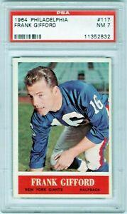 1964-Philadelphia-117-Frank-Gifford-New-York-Giants-Halfback-HOF-PSA-7