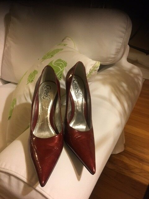 Carlos Santana Women High Heel Pumps Size 7 Leather
