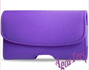 PURPLE-Leather-Sideways-Belt-Clip-Case-Pouch-Cover-for-LG-GOSSIP-PRO-C660R-NEW