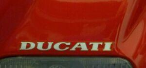 DUCATI 916 DECAL DUCATI  ABOVE HEADLIGHT  SCRIPT- EARLY MODELS