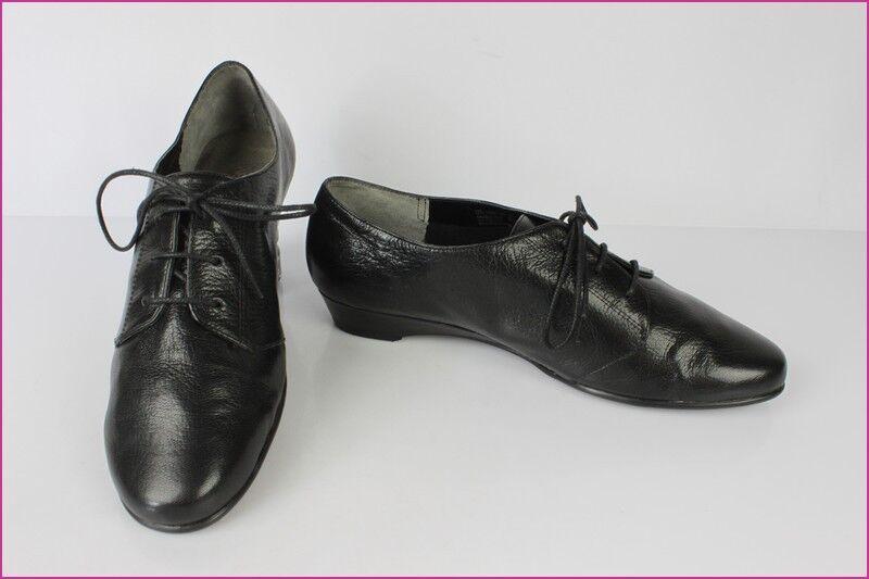 Oxfordschuhe AEROSOLES schwarzes Leder US 10 / eur 8 / fr 42 seht guter Zustand