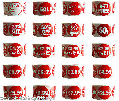 500x RED SPECIAL PRICE SELF ADHESIVE STICKER STICKY LABEL SWING LABEL FOR RETAIL