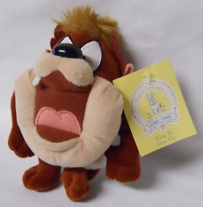 1999 Warner Bros Studio Store Baby Taz Mini Bean Bag-Beanie