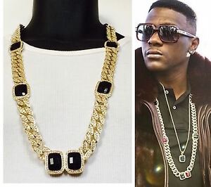 Image Is Loading Mens Rers Gold Black Onyx Miami Cuban Link