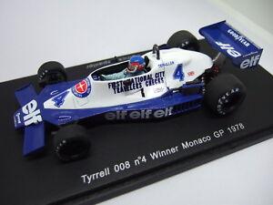 Spark Patrick Depailler Tyrrell 008 Vainqueur du Monaco Gp 1978 1/43