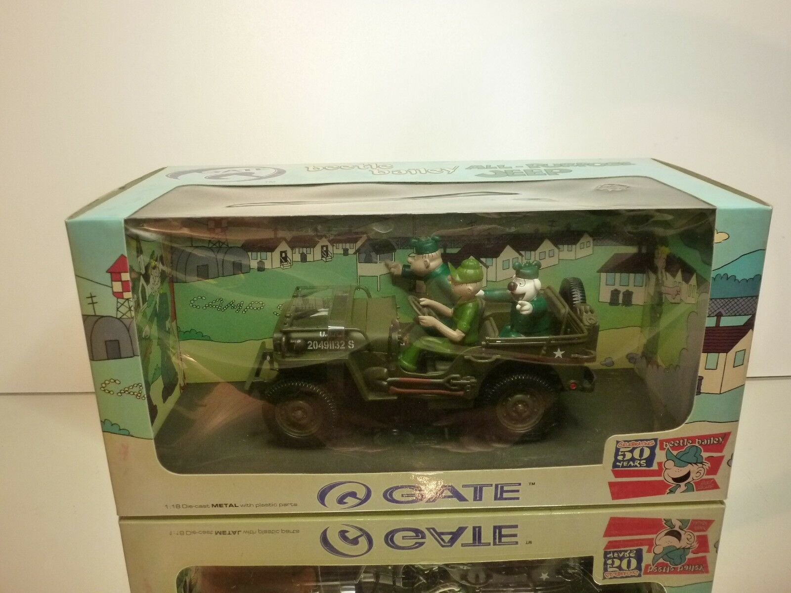 Obtén lo ultimo GATE 01062 BEETLE BAILEY RIDE ON WILLY WILLY WILLY JEEP - ARMY verde 1 18 - EXCELLENT IN BOX  promociones emocionantes