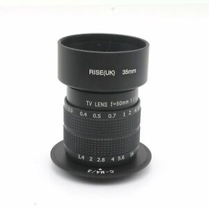 50mm-f1-4-CCTV-Lens-Adapte-M4-3-Panasonic-G1-G2-G3-G10-GF1-GF2-GF3-GH1-GH2-Hood