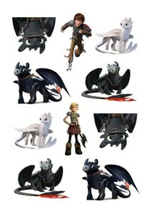 """HOW TO TRAIN YOUR DRAGON 2.3/"""" x 2.3/"""" TEMPORARY TATTOO"""
