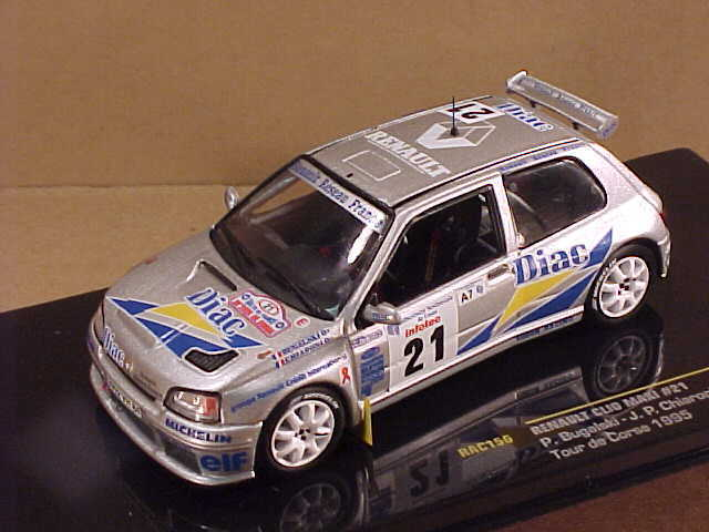 Ixo 35;RA156  43 tärningskast Renault Clio Maxi, 1995   39th Tour de Corse, Diac