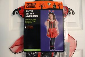 Cutie-Little-LADYBUG-Halloween-Costume-Infant-Toddler-Size-2-4-years-NEW