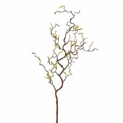 Künstlicher Haselnußzweig mit 20 Kätzchen, 65 cm - Kunstzweig / Dekozweig