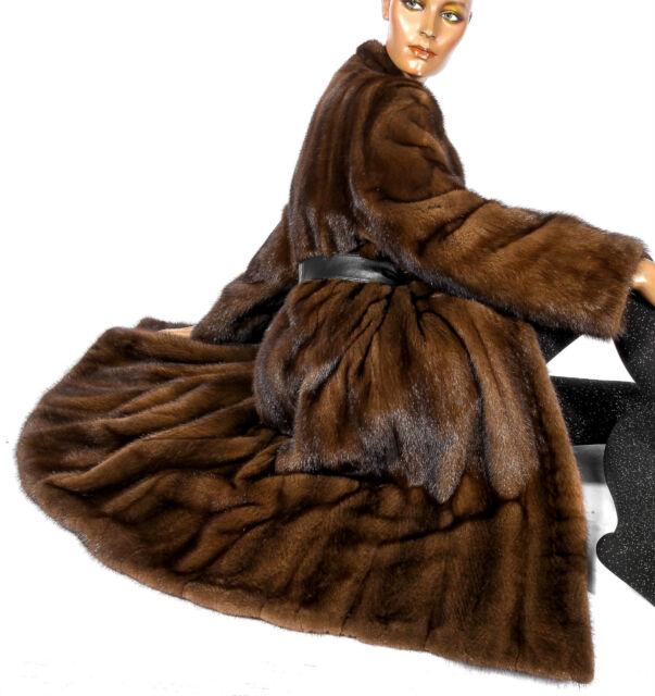 Nerzmantel Nerz Mantel Pelz Braun Vintage Mink fur coat brown Pelmantel Visone