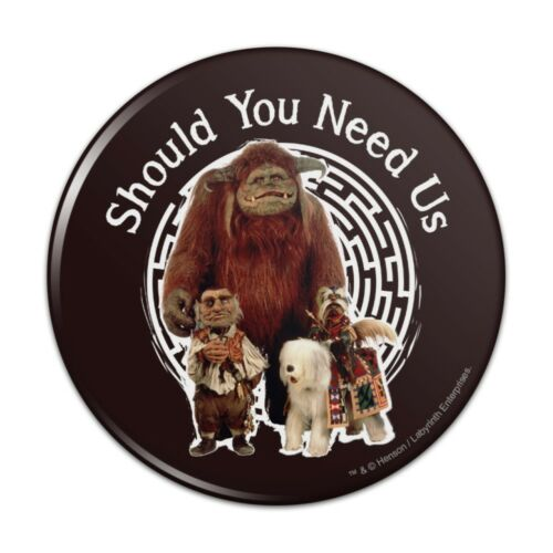 Should You Need Us Labyrinth With Ludo  Button Refrigerator Magnet