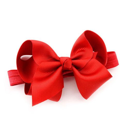 20 Baby Girl Hairband Bow Soft Knot Elastic Band Headband Flower Hair Accessorie