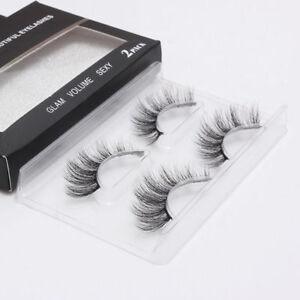 2Pairs-3D-Faux-Mink-Natural-False-Eyelashes-Volume-Long-Eye-Lashes-Extension