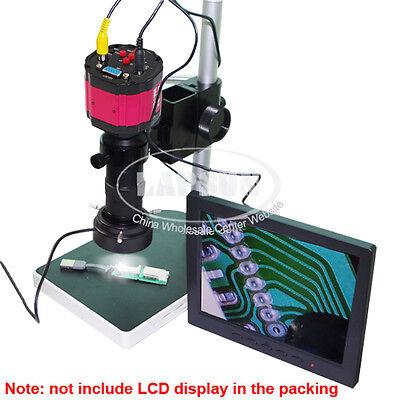 100X 2MP VGA AV TV Digital Industry Microscope Camera+C-mount Lens +Stand +Light
