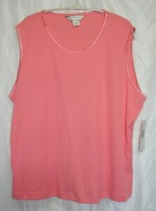 Allison-Daley-II-Coral-Pink-Sleeveless-Pullover-Plus-Size-3X-Tank-Top-Shirt
