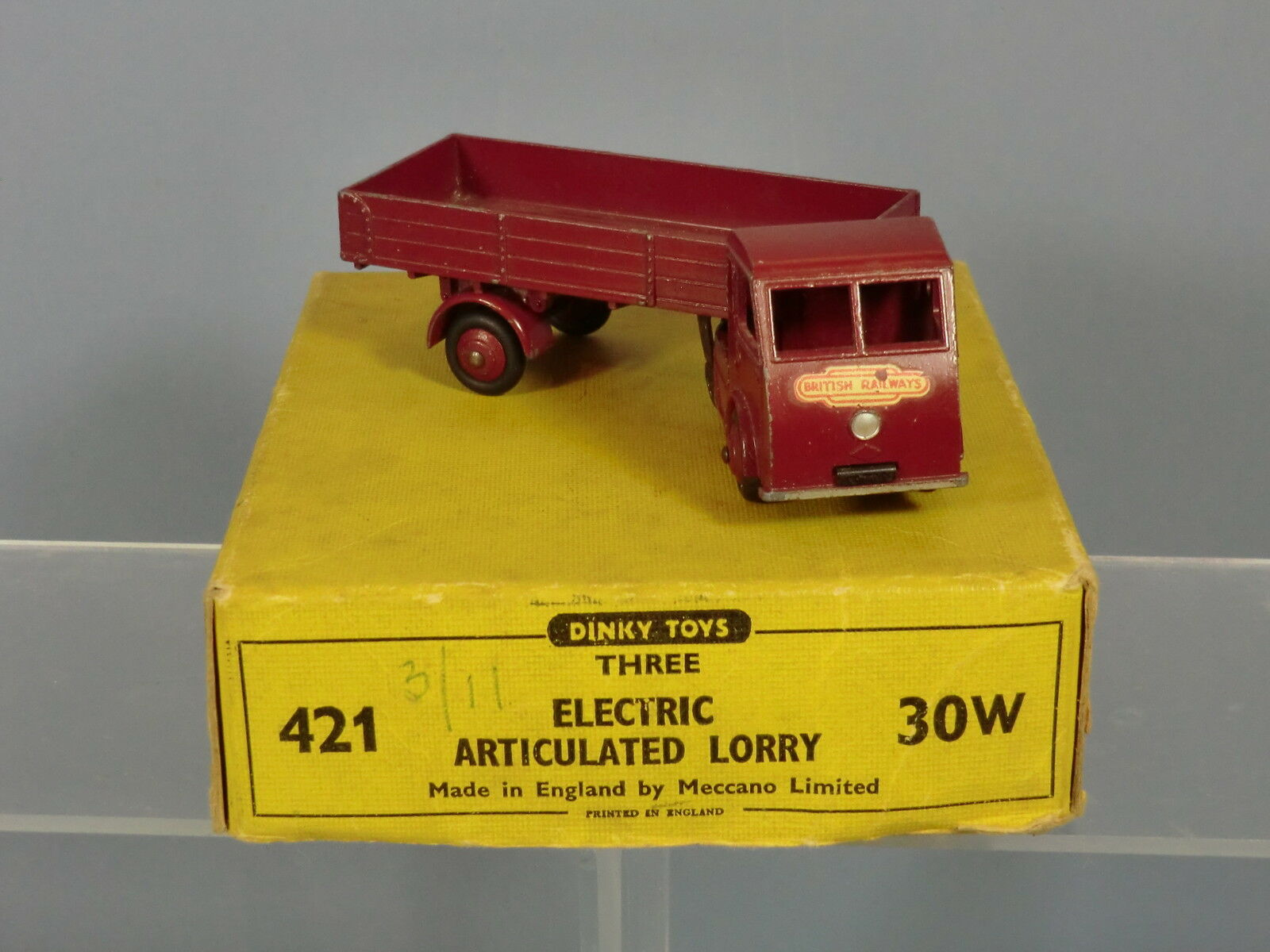 DINKY TOYS TRADE BOX No.30W (421) HINDLE SMART  HELECS   BRITISH RAILWAYS VN MIB