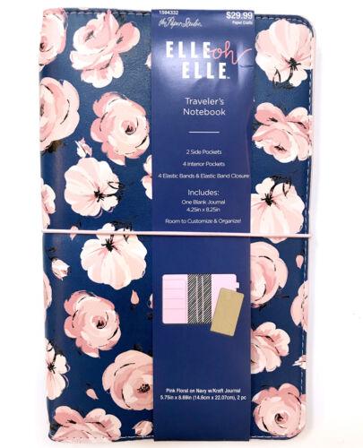 NEW Studio Floral Rose Travelers Notebook Kraft Journal Elle Oh Elle Paper Pink