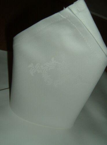 Mundserviette Serviette Napkin Stoff Baumwolle Blütenkranz  55x55cm 30 Stück