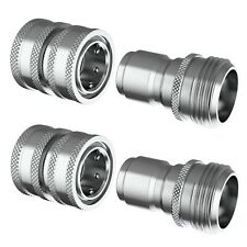 Stainless Steel Garden Hose Quick Connect Sets 34 Fittings Free Shipping