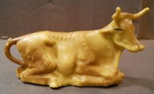 "Vintage 3 1/4"" Laying Ox Cow Christmas Figure Manger Nativity Animal Creche"