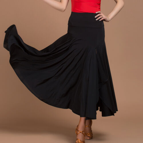 NEW Latin salsa tango rumba Cha cha Square Ballroom Dance Dress#W003 Skirt Black