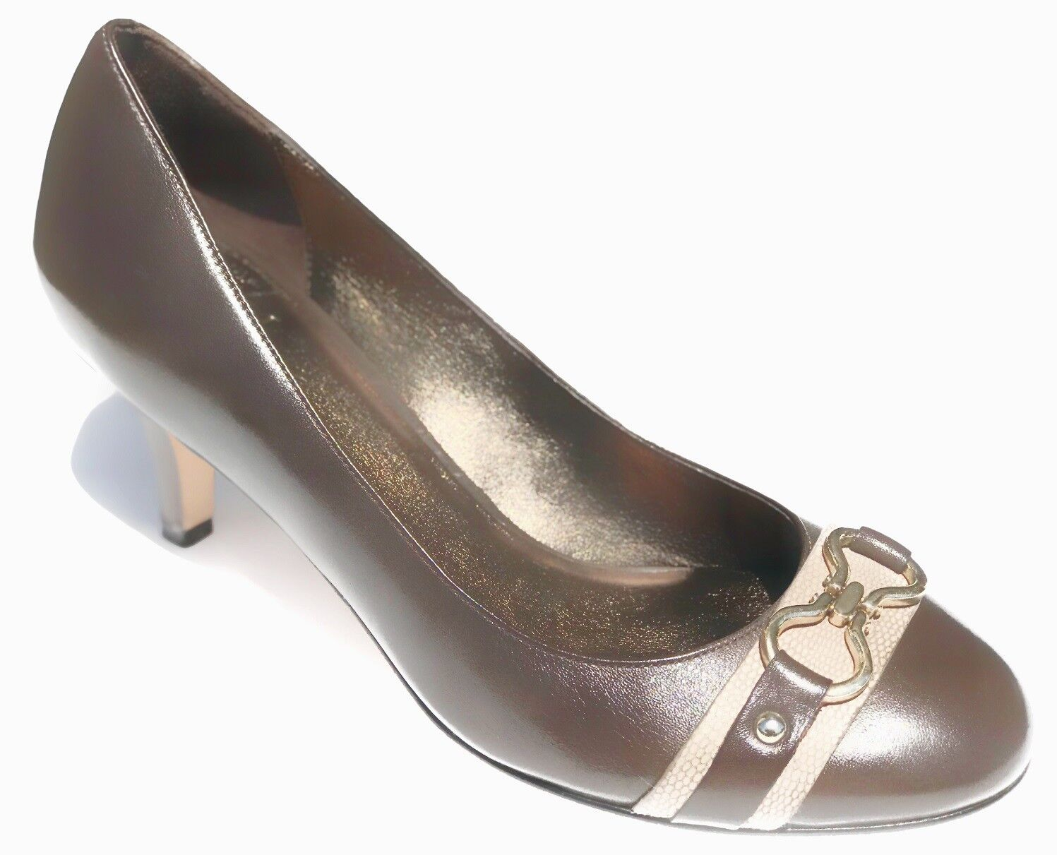 Cole Haan AIR LAINEY Chocolate Leather Pump Heels shoes Womens 9.5 NEW IN BOX
