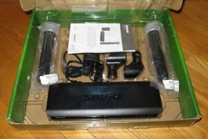 Shure BLX288/PG58 Wireless System - (2) PG58 Microphones & 2-Channel Receiver