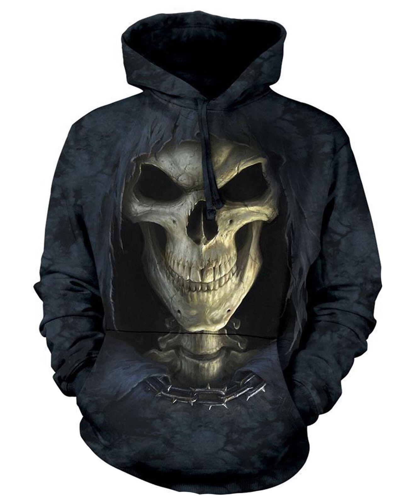 5078 The Mountain Hoodie Kapuzenpulli BIG FACE DEATH Schädel Skull