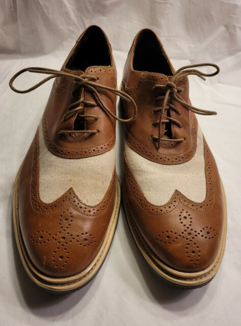 Cole Haan Men Shoe Air Hamiliton Size 11 M Brown Tan Grand Wingtip Loafer