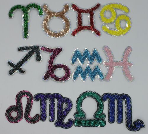 Horoscope Signs Sequin Patch