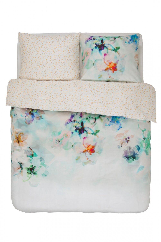 ESSENZA Bettwäsche Set Manta multi bunt Blaumen Blüten Aquarell Satin