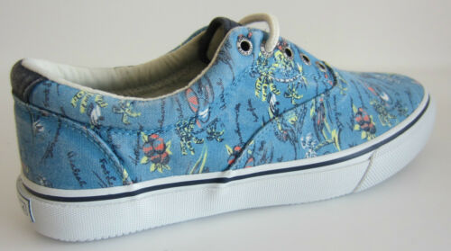 R43A Sperry STS10857 Stryper CVO Homme Hawaii Bleu Toile à Lacets Chaussures UK 7-12
