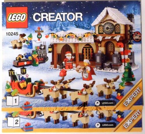 Discontinued New Lego Instruction Santa/'s Workshop 10245 Two Booklets !! *