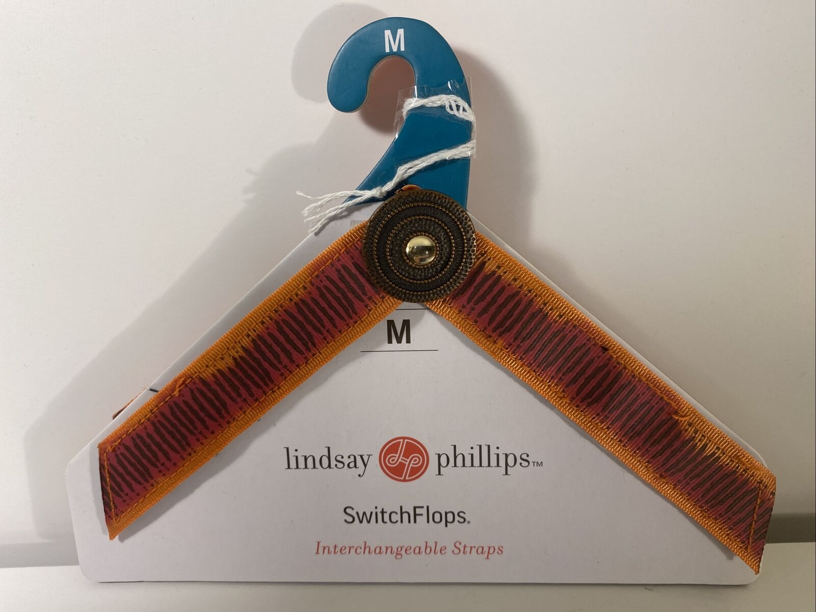 "NEW Lindsay Phillips SwitchFlops 7-8 Medium Interchangeable Straps ""Lorrena"""