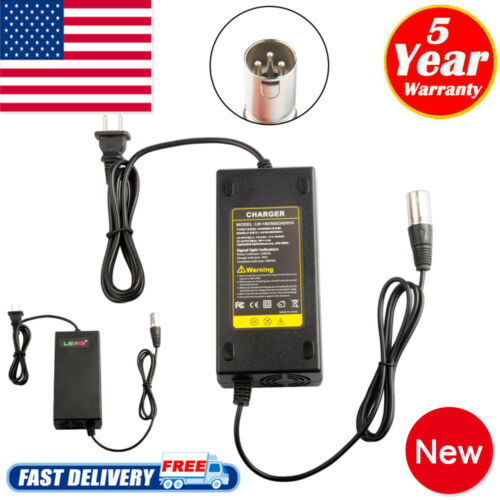 120W 24V 5A Electric Scooter Battery Charger For XLR AC Adapter Bike New