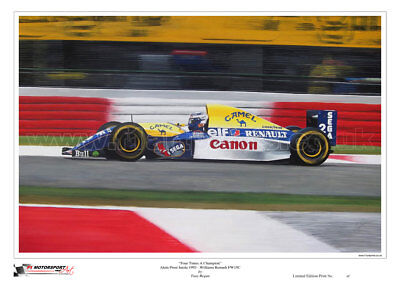 Alain Prost Williams 1993 Limited Edition F1 Art Print Large A2 Size