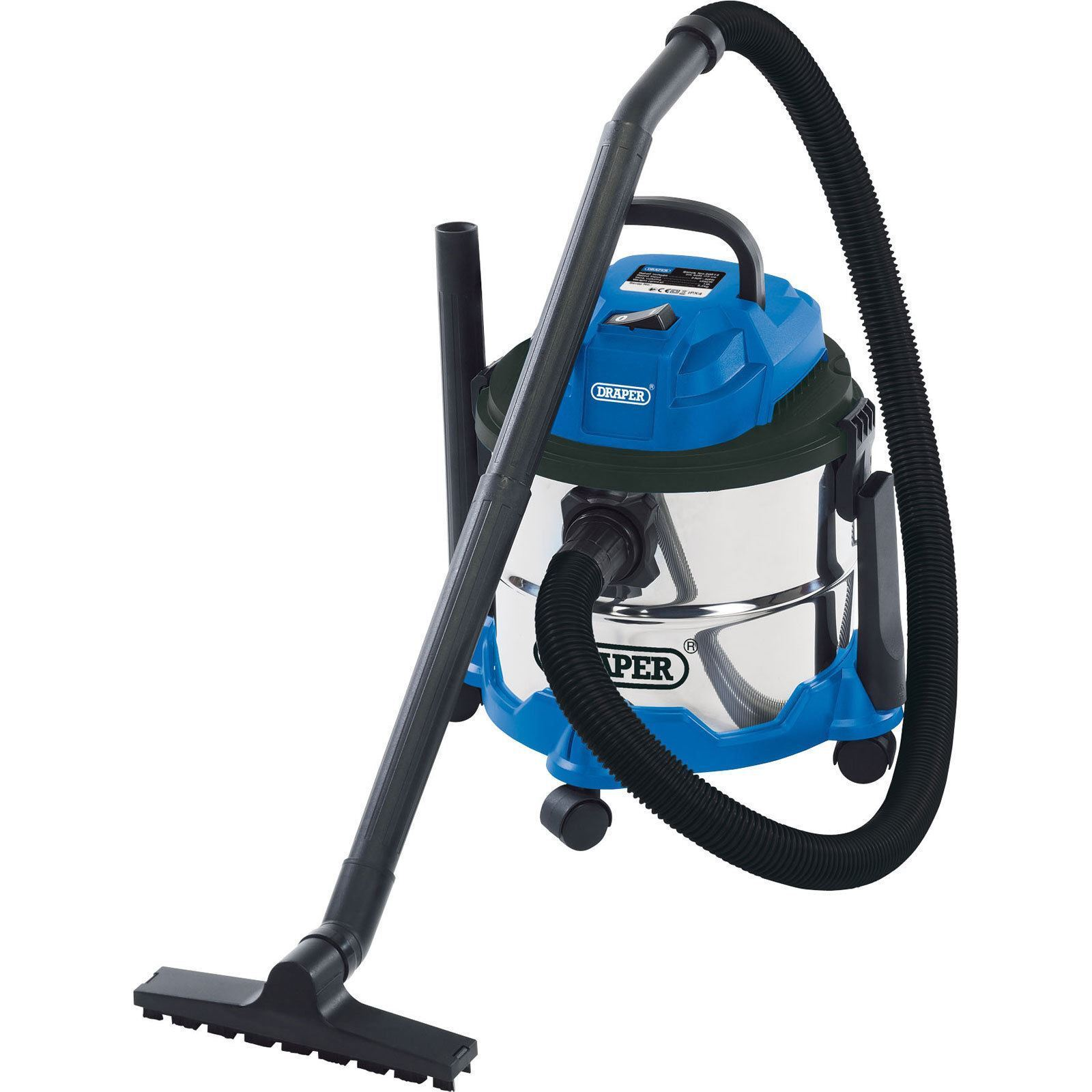 Draper Wet and Dry Vacuum Cleaner With Stainless Steel Tank 15L 230V 20514
