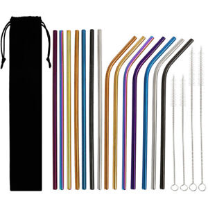 18x-Reusable-Stainless-Steel-Drinking-Metal-Straw-with-free-Cleaner-Brush-Kit