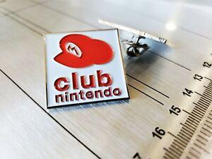 Club-Nintendo-Pin-Enamel-amp-Metal-Promo-Lapel-Pin-Display-Employee-Video-Game-USA