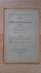 Compendio Mensile - Rivista Di SCUOLA Antropologia Di Parigi - 1901 - N° 11