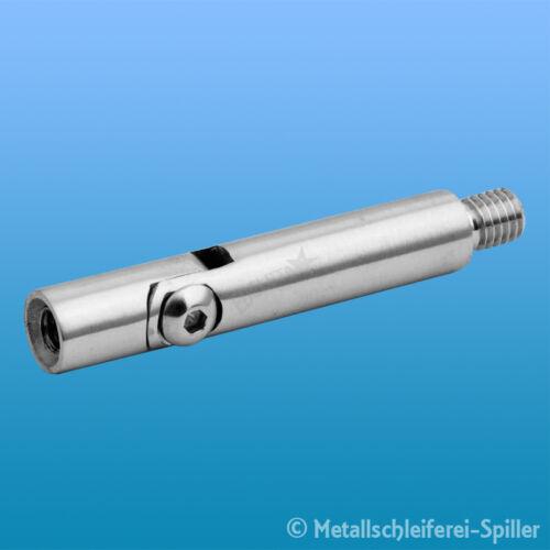 Edelstahl Gelenkstift 12mm, M8 Aussen, M6 Innen, L49mm für Geländerbau Inox