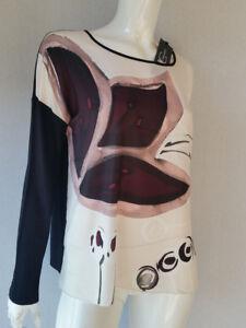 Luisa-Cerano-Shirt-Black-White-Pattern-RRP-159-95-EUROS-SIZE-44-46-UK-18-NEW