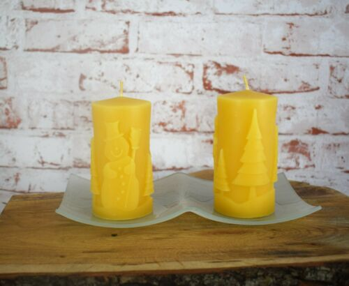 Kerzenteller für Stumpenkerzen Glas weiß 11 cm 22 cm Kerzentablett Kerzenhalter