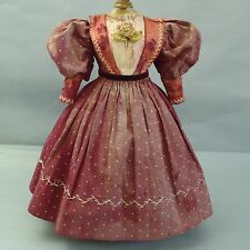Antique Original French Dress for French Fashion Doll Huret Rohmer Bru