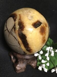 323g-PEACEFUL-NATURAL-DRAGON-SEPTARIAN-CRYSTAL-HEALING-SPHERE-Morocco-REIKI