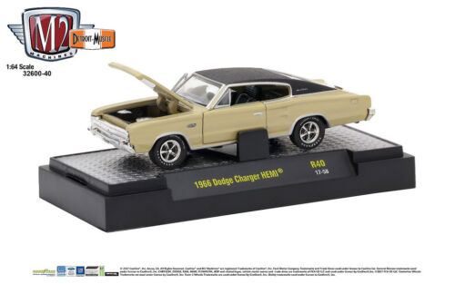 M2 Machines 1:64 Detroit Muscle Release 40 1966 Dodge Charger HEMI